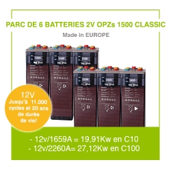 "6 Batteries 2v OPZs 1500 ""Classic"""