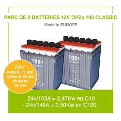"2 Batteries 12v OPZs 100 ""Classic"""