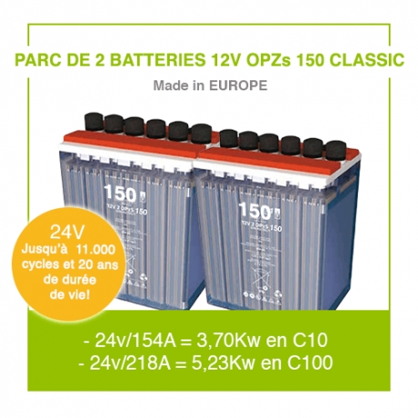 """2 Batteries 12v OPZs 150 """"Classic"""""""