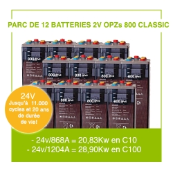 "12 Batteries 2v OPZs 800 ""Classic"""