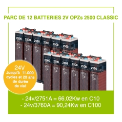 "12 Batteries 2v OPZs 2500 ""Classic"""