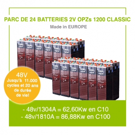 "24 Batteries 2v OPZs 1200 ""Classic"""