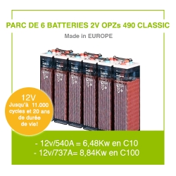 "6 Batteries 2v OPZs 490 ""Classic"""