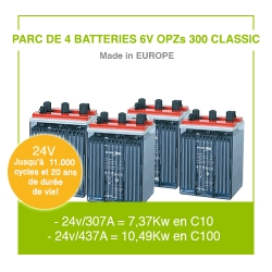 """4 Batteries 6v OPZs 300 """"Classic"""""""