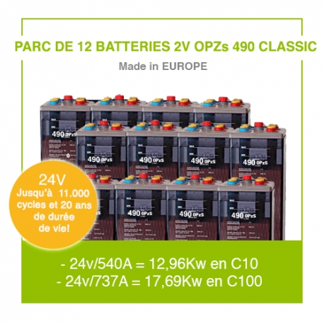 """12 Batteries 2v OPZs 490 """"Classic"""""""