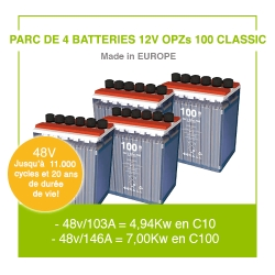 """4 Batteries 12v OPZs 100 """"Classic"""""""