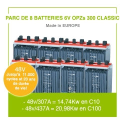 """8 Batteries 6v  OPZs 300 """"Classic"""""""