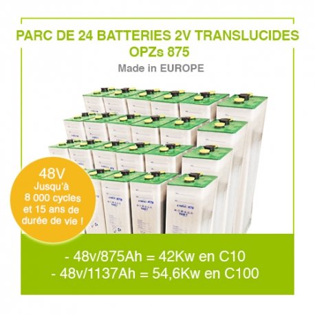 "Parc 24 Batteries 2v ""Translucides OPZs 750"